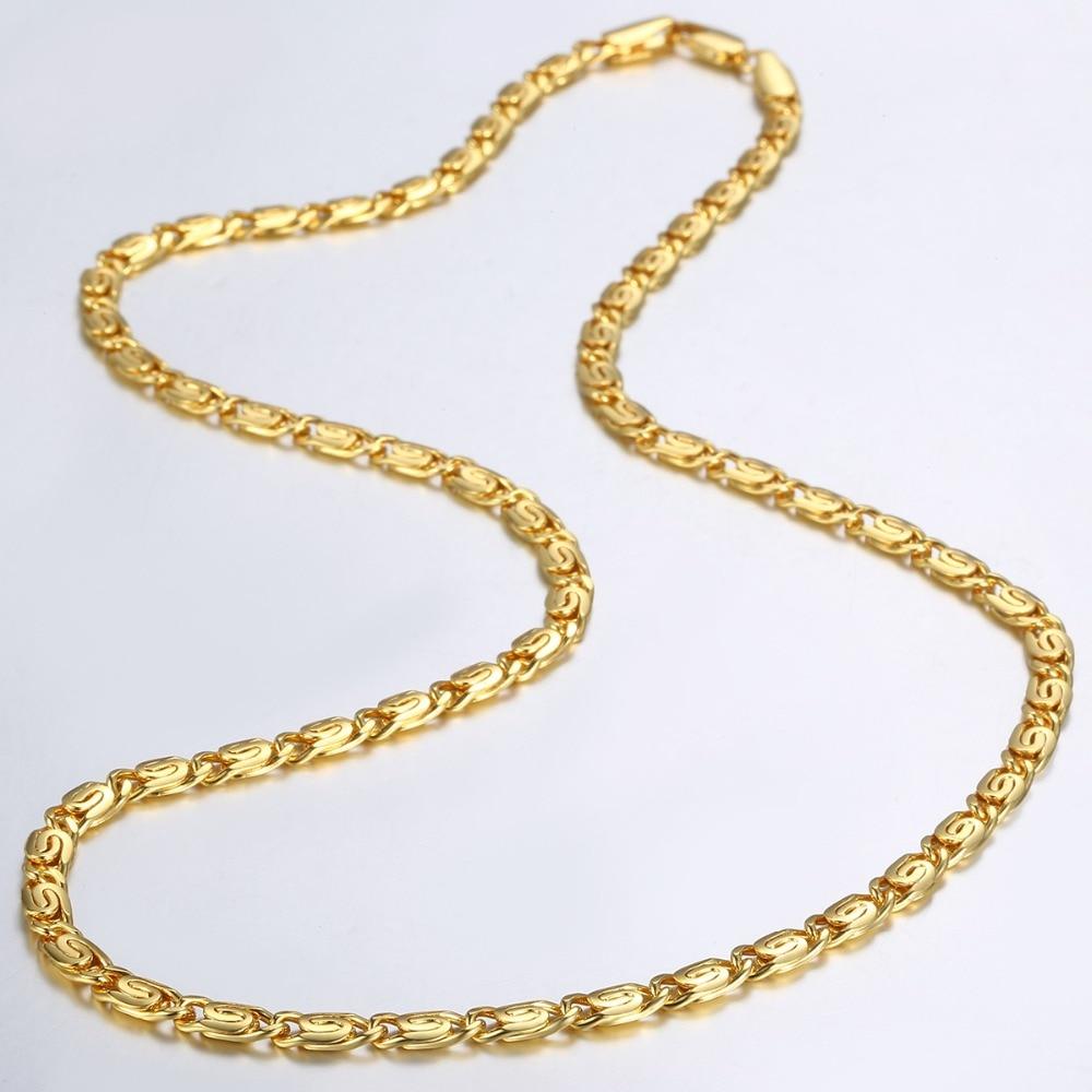 Trendsmax 4.5mm Kolye Kadınlar Kız 585 Için Gül Altın Link - Kostüm mücevherat - Fotoğraf 5