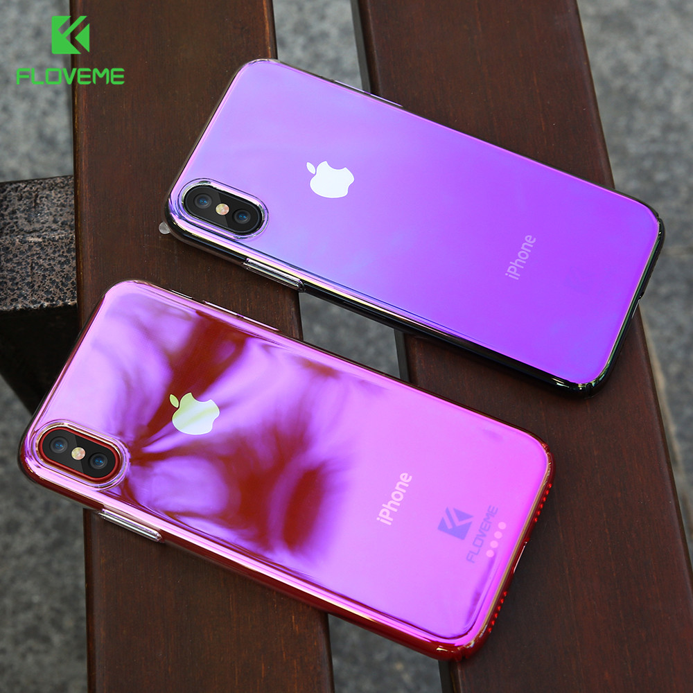 FLOVEME Gradient Color Case For IPhone X Mobile Phone 8 Plus Clear Cover Apple In Fitted Cases From Cellphones