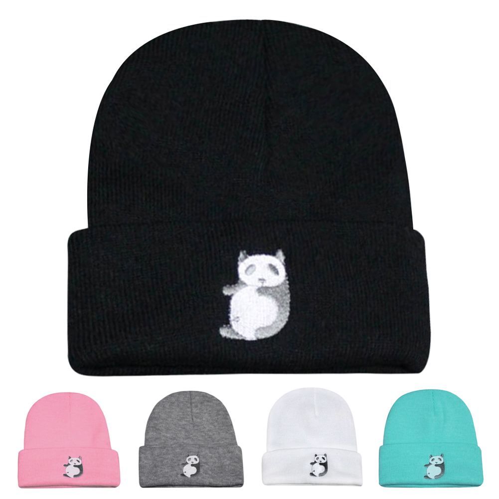 Fashion Panda Cap Men Casual Hip-Hop Hats Knitted Wool Skullies Beanie Hat Warm Winter Hat for Women/Men Drop Shipping DM#6  new fashion winter cap for women knitted cap wool pure color hat men casual hip hop hats beanie warm hat warm hat plus size lb