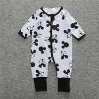 New Arrival Spring Autumn Cartoon Baby Boys Long Sleeve Overall Cotton Foot Cover Baby Pajama Climb