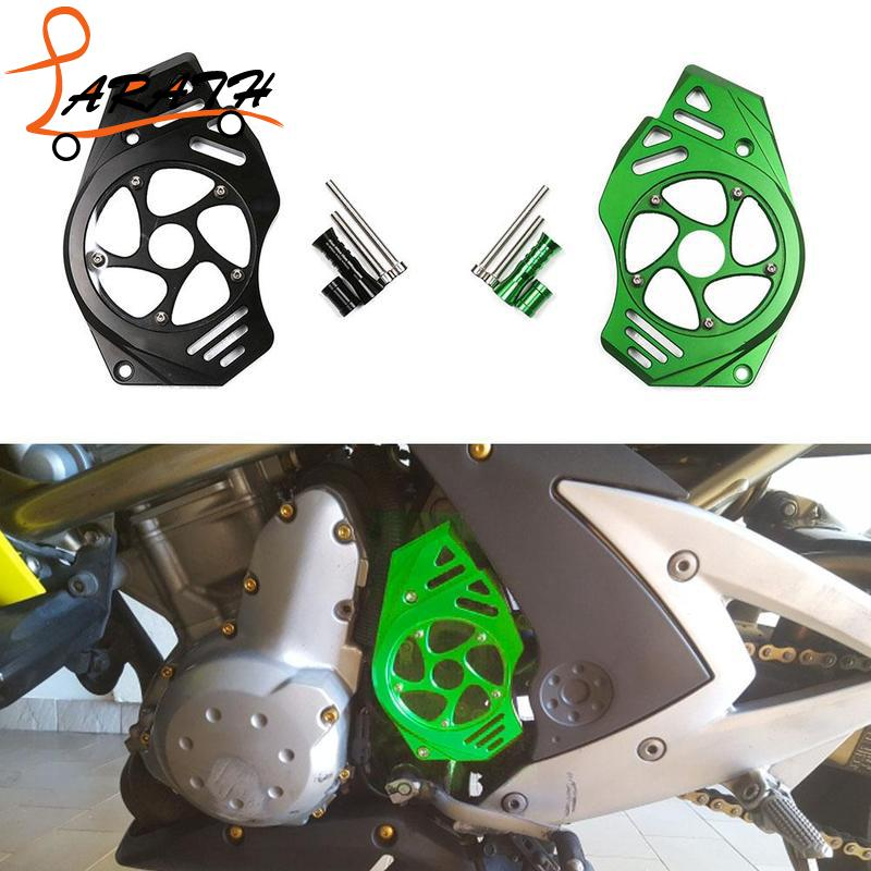 LARATH мотоцикл передние звездочки цепь гвардии Крышка двигателя ER6N ER6F 2006 2007 2008 2009 2010 2011 2012 2013 2014 MTI5667