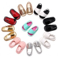Summer Bowknot Baby Sandals Tassel Leather Toddler Girls Slippers Shoes Boy Baby Shoes Open Toe Infants