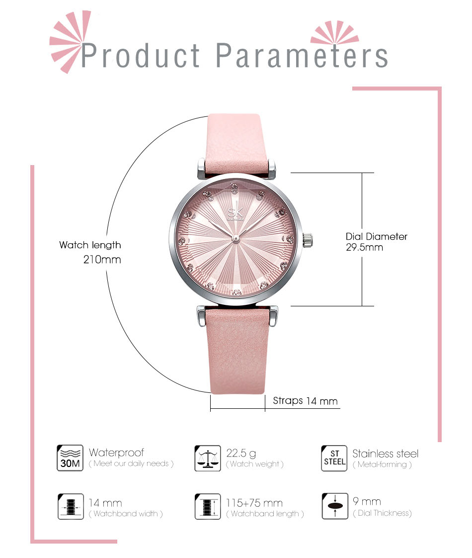 SK Luxury Brand Leather Ladies Wrist Watches Women Prism Quartz Watch For SHENGKE Female Clock reloj mujer 2019 relogio feminino (8)