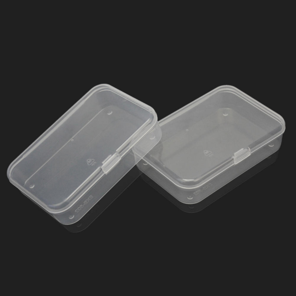 Craft supply storage containers - 2pcs Plastic Clear Transparent Storage Collections Container Box Case Home Room Kitchen Supplies 8 8 6