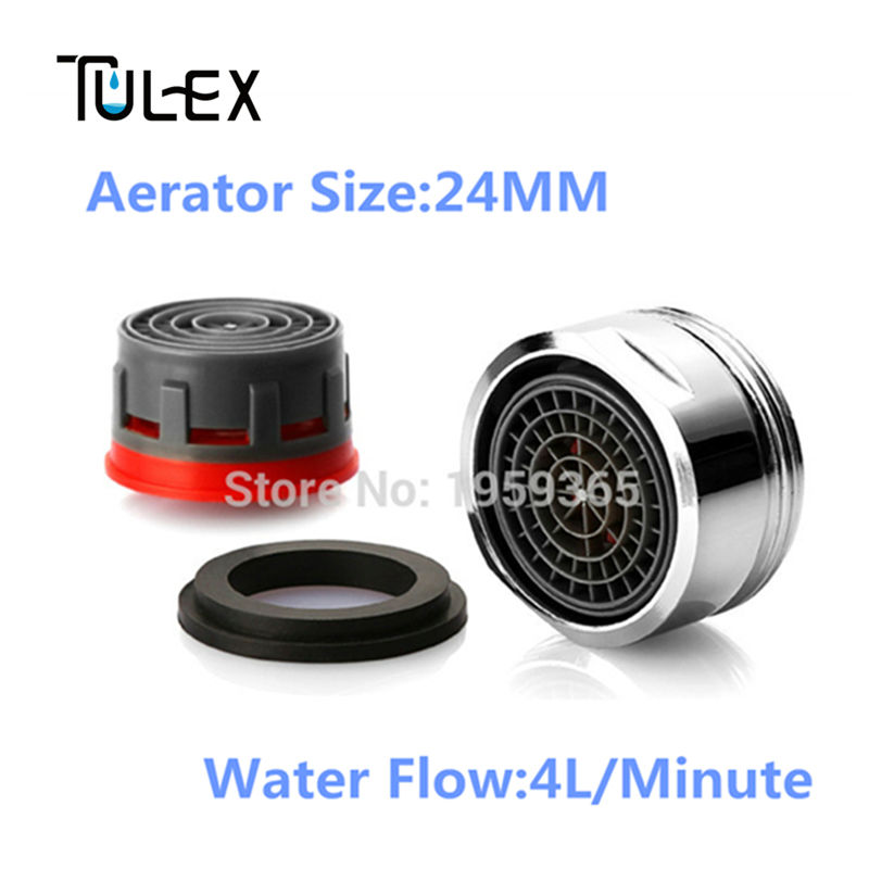 Special offer Water Saving Faucet Aerator 4L Spout  Bubbler Tap Filter Crane Nozzle Attachment Accessories Male 24MM On Sale