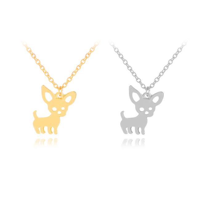 I Love My Dog Breed Silhouette Dog Cute Dog Pet Puppy Rescue Pendant Necklace