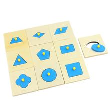 Math Toys Wood Geometry Shape Insets Set/10 Pcs Early Childhood Education Preschool Training Kids Toys цены