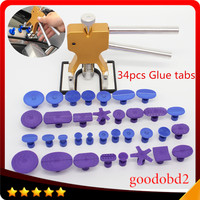 34PC Set Car PDR Glue Puller Tabs Professional Car Dent Repair Tools Paintless Dent Lifter PDR