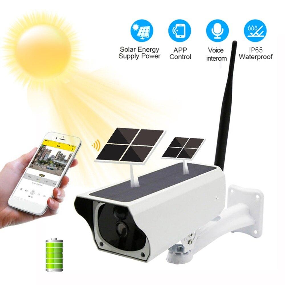 1080P Wi-fi Câmera IP Câmera de Segurança de Carga Da Bateria Solar IP65 PIR Movimento Night Vision Vigilância CCTV Câmera À Prova D' Água