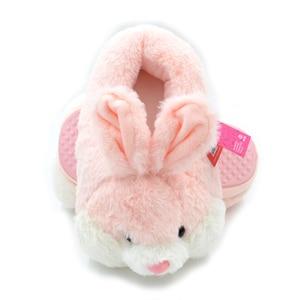 Image 2 - Millffy adorável coelho rosa de pelúcia inverno quente chinelos de veludo confortável interior sapatos hamster bunny chinelos de gato de pelúcia