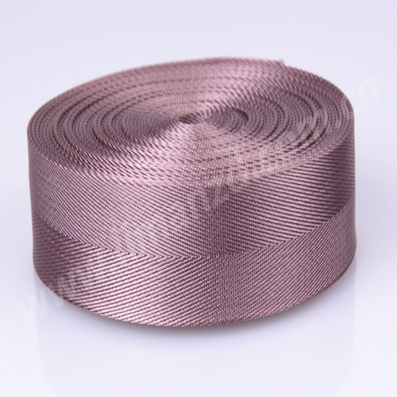New high quality light purple color 1 5 inch 38mm wide 1 35mm thickness for bag