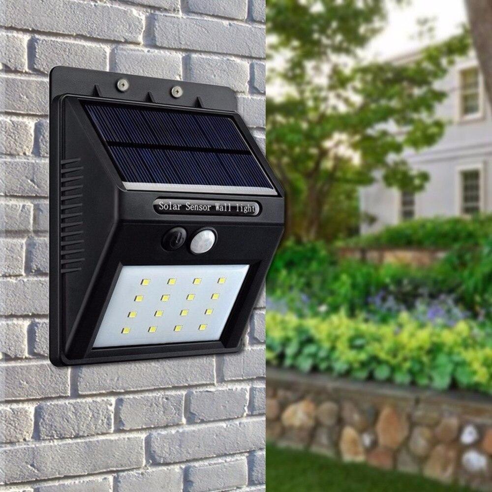 LED Solar Power Motion Sensor LED Appliques Murales Énergie 20 LED Extérieur Solaire Lumière de Sécurité pour Porche Patio Cour Jardin passerelles