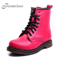 2017 Autumn Winter Women Shoes Genuine Leather Women Boots Square Heels Ankle Boots S Shoes Martin