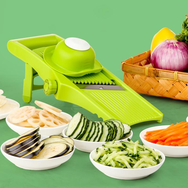Adjustable Mandoline Slicer Vegetable Cutter Potato Julienne Carrot Slicer Cheese Grater Kitchen Accessories Christmas Gift