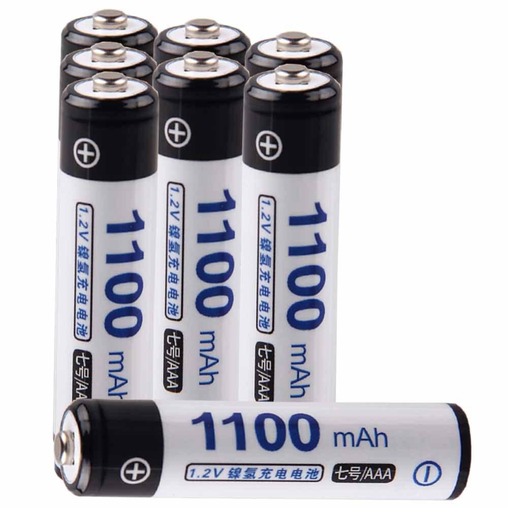 Precio más bajo 8 piezas de batería AAA pilas de 1,2 v recargable 1100 mAh nimh batería para herramientas akkumulator