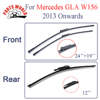 KIT Silicone Rubber Front And Rear Wiper Blade For Mercedes Benz GLA Class W156 2013 Onwards