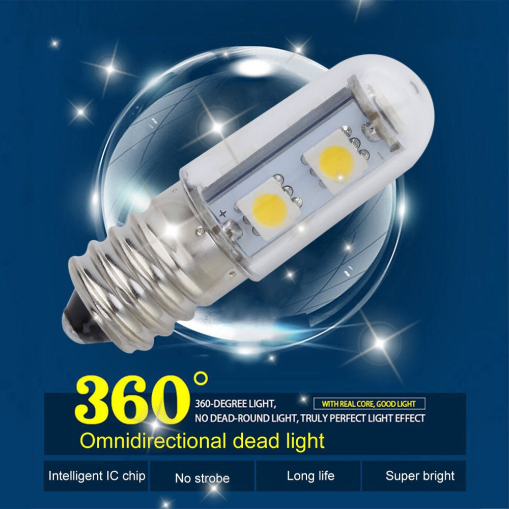 1x Mini E14 <font><b>1W</b></font> 7 LED <font><b>5050</b></font> SMD Nature/Warm White Refrigerator Light Bulb Lamp, 110V/220V 2018 New Arrival image