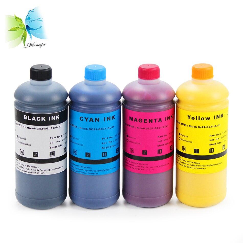 Winnerjet For Ricoh SG3100 SG2100 SG2010L SG3110dnw printer GC41 refill water based Pigment Ink