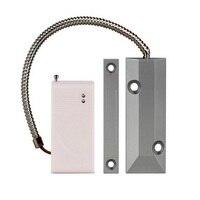 (1 par) Link de codificação automática de Rolamento Sensor Magnético Da Porta sem fio 433 Mhz para sistema de alarme de segurança Em Casa de alarme de Porta aberta