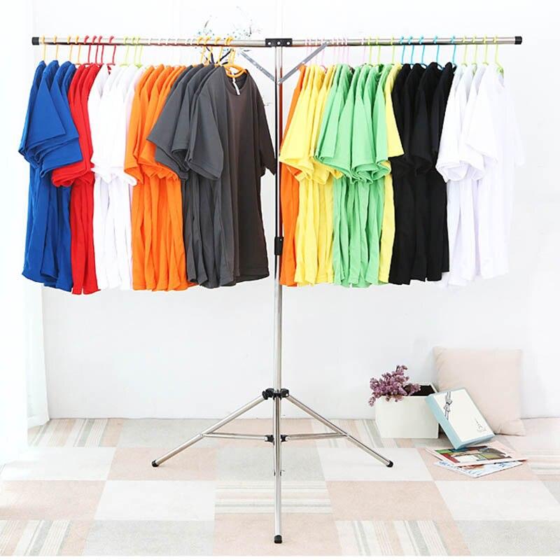 إكسسوارات ديكور منزلي 125 سنتيمتر طوي شماعات ملابس قابل للتعديل الفولاذ المقاوم للصدأ الملابس تجفيف معلقة تخزين حامل رف