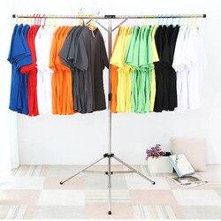 Acessórios de decoração para casa 125cm dobrável cabide de roupas de aço inoxidável ajustável secagem pendurado rack de armazenamento