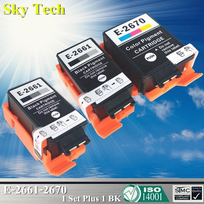 Compatible Cartouches D'encre Pour T2661 T2670, Pour Epson Workforce WF-100W/WF100W. [Avec Pigment Intérieur]