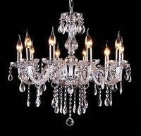 luxury modern led crystal chandelier E14 ceiling fixtures bulb chandeliers K9 Clear Crystal Chandelier AC110v 220v