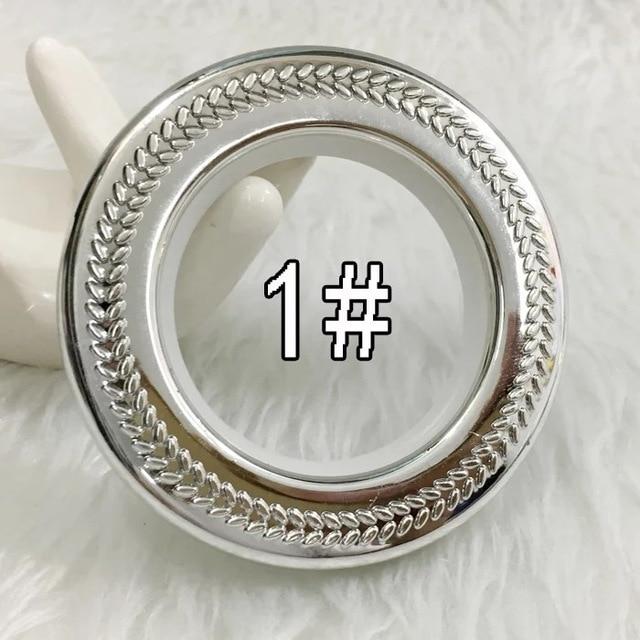 50pcs New Style Curtain Eyelet Ring Roman Circle Clip Rings 45mmx75mm Art Gold