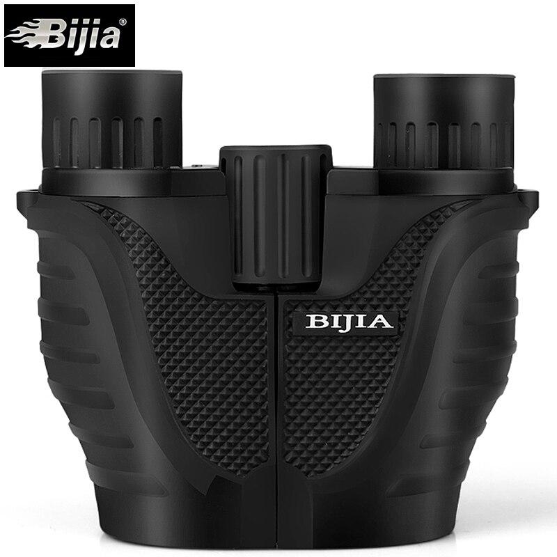 Bijia 10x25 mini prismáticos HD profesional prismáticos telescopio opera Gafas para conciertos viajes deportes al aire libre Caza