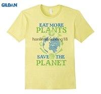 GILDAN 2018 Eat More Plants Save The Planet Green Eco Veggie T-Shirt