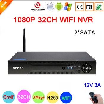 Dahua Pannello Hi3536C XMeye Surveillance Video Recorder 32CH 32 Canale H.265 2 * SATA 1080 P IP Onvif CCTV di WIFI NVR Spedizione Gratuita