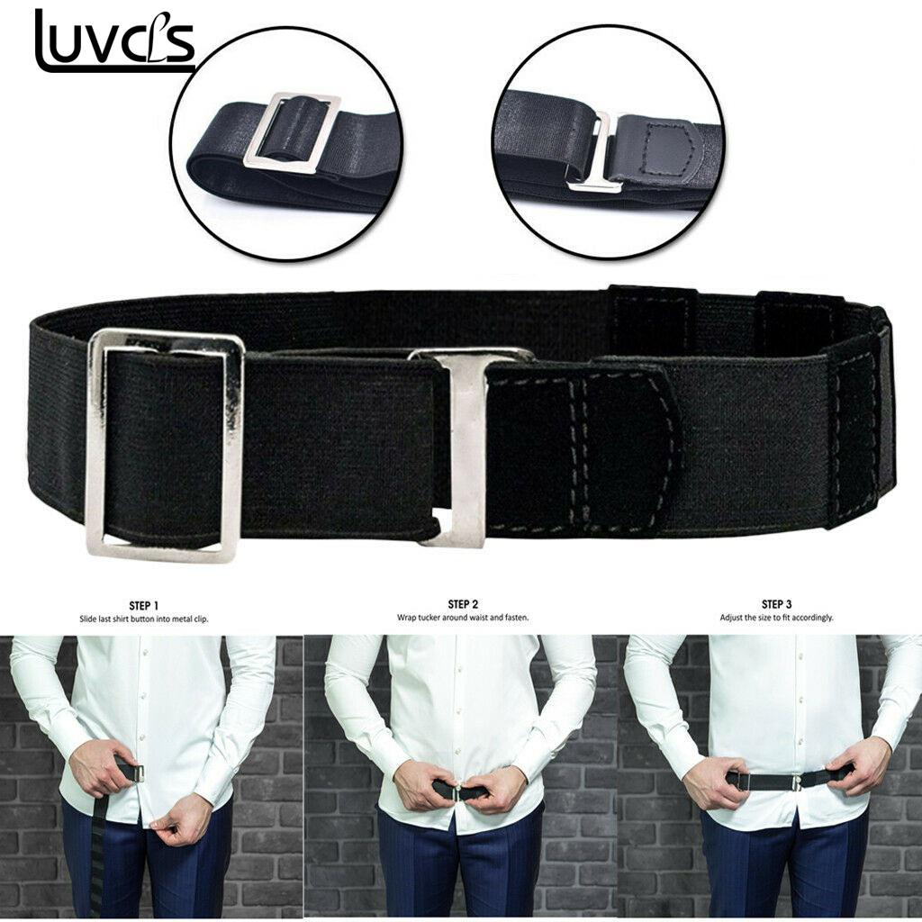 Fashion Shirt Holder Adjustable Near Shirt Stay Best Tuck It Belt for Women Men Work Interview Black Color 120cm(China)