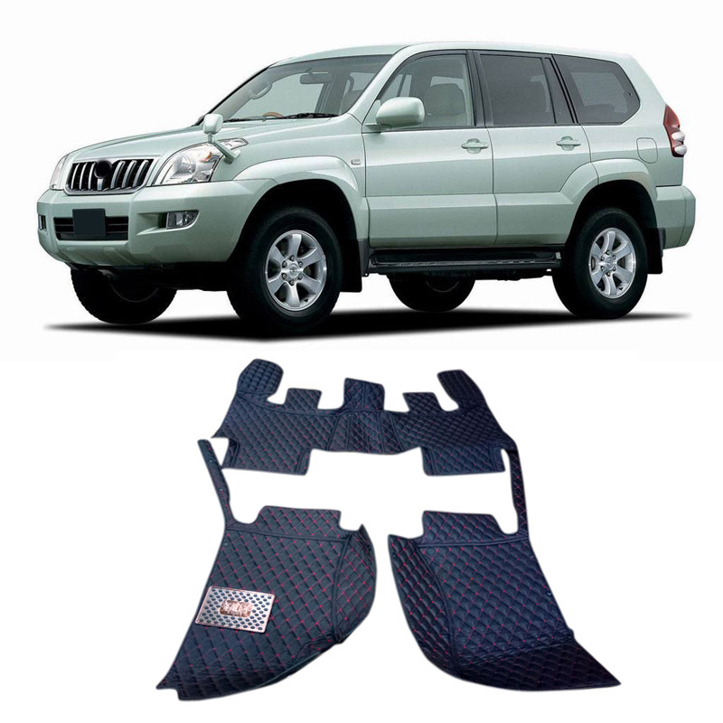 цена For Toyota Prado FJ120 2003 2004 20008 2009 Car-styling Accessories Interior Leather Carpets Cover Car Foot Mats Floor Pad онлайн в 2017 году