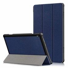 30 ชิ้น/ล็อต Slim Folio PU สำหรับฝาครอบ Lenovo TAB M10 X605 TB X605F Luxury Case Protector ผิว