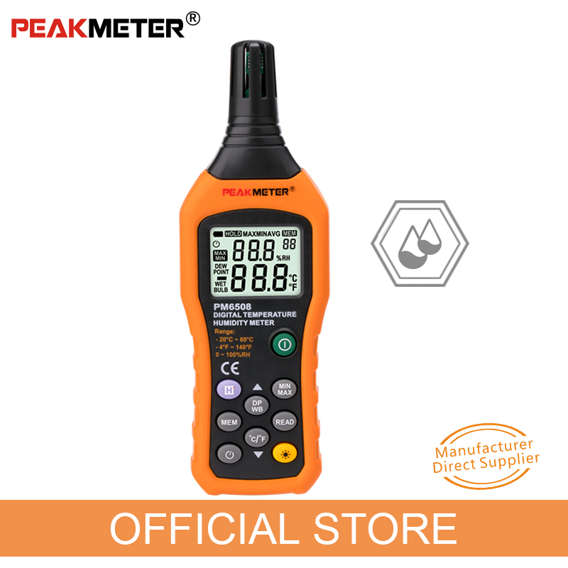 PEAKMETER MS6508 Digital Temperature Humidity Hygrometer Thermometer Weather Station
