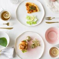 Европейский стиль Phnom Penh керамика два человека еда столовые приборы набор Западный дом неглубокая тарелка посуда рисовая чаша франко стиль