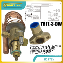 95KW disassemble R23/R13 thermostatic expansion valve matches 84m3/h LBP compressor, such as copland D6SF-200X or D4DT-220X