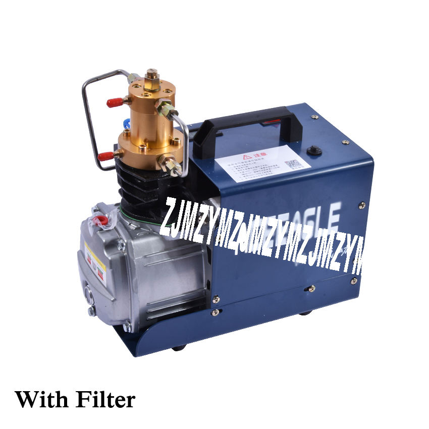 New Hot 1.8KW 220V/50HZ 2800r/min High Pressure Air Pump Electric Air Compressor for Airgun Scuba Rifle Pump Tubing with Filter automatic stop double cylinder pcp electric air pump 220v 50hz high pressure paintball air compressor with breath filter