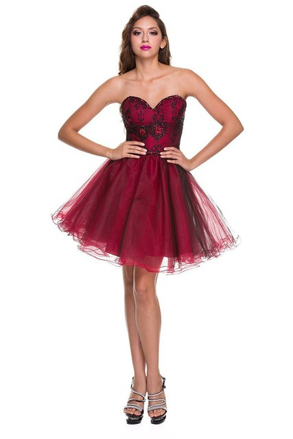 20c754d5bb5 2016 New Arrival Dark red Satin Sexy short Lace Up homecoming dresses 2016  with strap lace homecoming dresses 2016 black