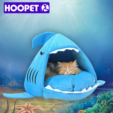 HOOPET теплые мягкие кошка дом Зима Pet спальный мешок Красивая Акула собаки питомника кровати щенок валик диван