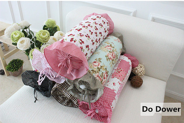 Online Shop Sweet Refreshing Candy Cotton Long Pillow Office Chair Simple Cylindrical Decorative Pillows