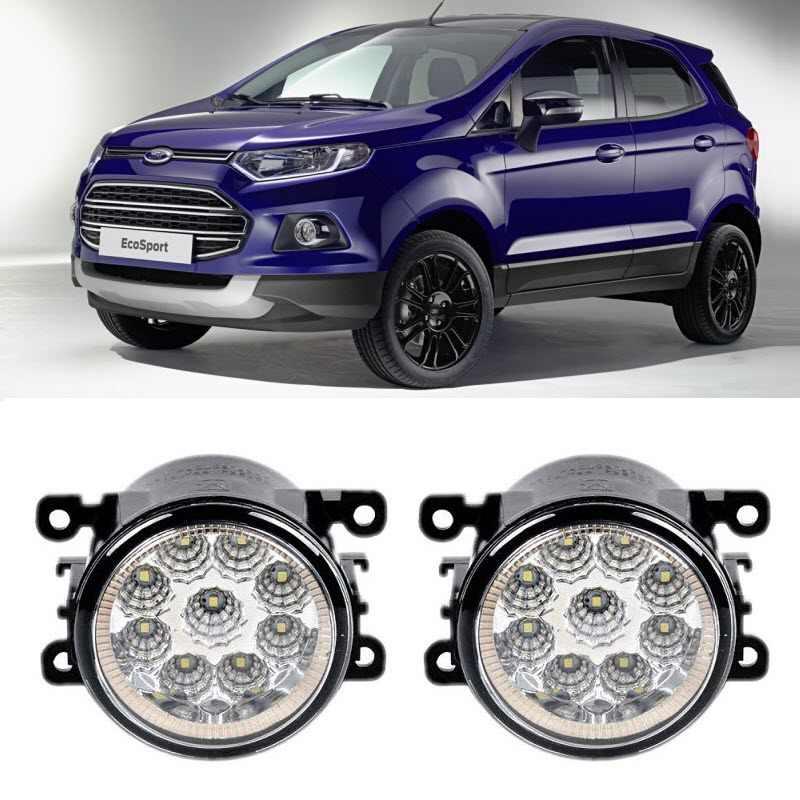 Car Styling For Ford Ecosport 2013 2014 2015 2016 9 Pieces Leds Fog Lights H11 H8 12v 55w Led Fog Head Lamp