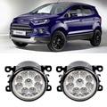Car Styling For Ford EcoSport 2013 2014 2015 2016 9-Pieces Leds Fog Lights H11 H8 12V 55W LED Fog Head Lamp