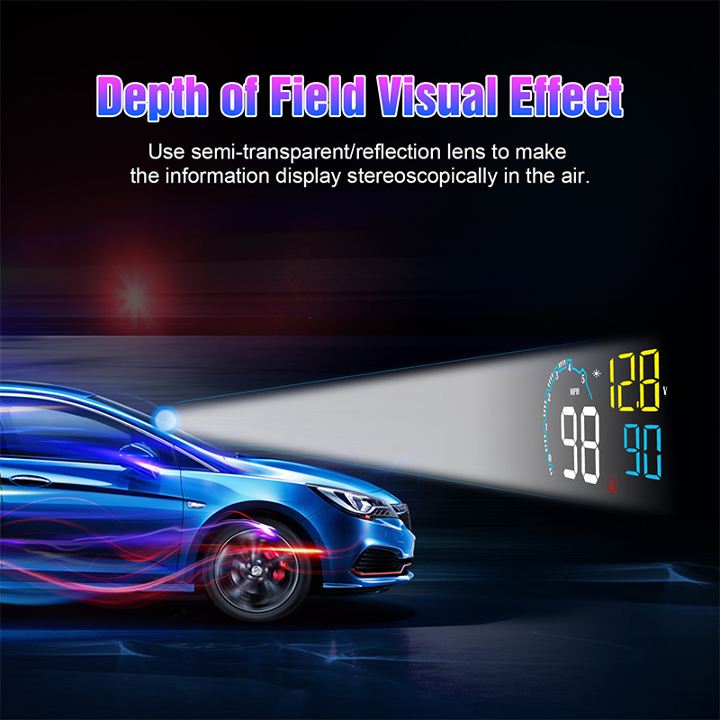 Image 3 - GEYIREN 2019 New OBD HUD Head Up Display On board Car Computer C600 Digital Speedometer OBD2 Projector Driving Fuel Consumption-in Head-up Display from Automobiles & Motorcycles