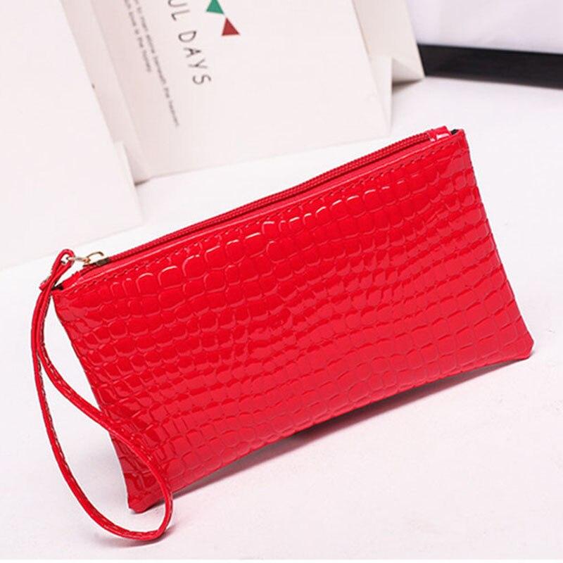 New Mini Day Clutches Women's Bag Korean Version Crocodile Pattern Clutch Bag Ladies Mobile Phone Bags Wallet PU Leather Handbag (18)