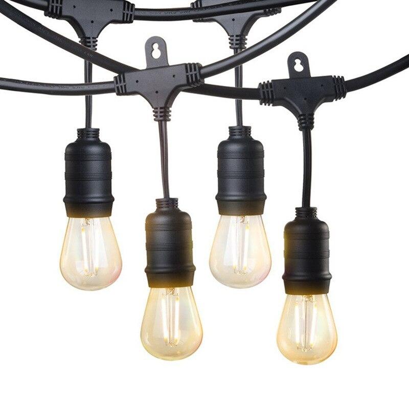 10m LED String Lights Outdoor Garland Waterproof E27 S14 LED Edison Filament Bulb Street Garden Patio
