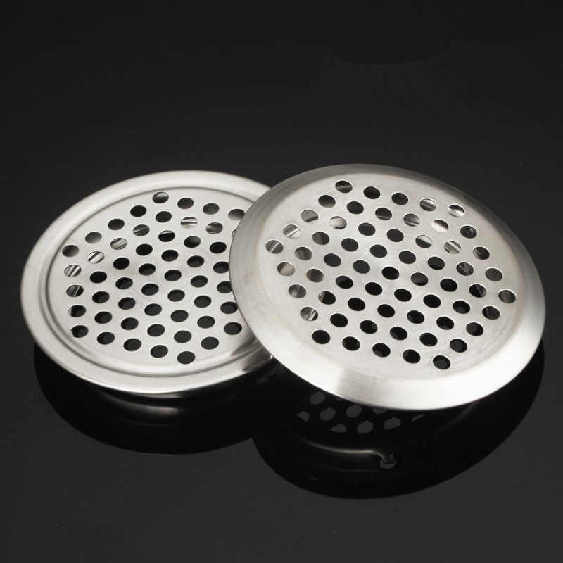5pcs/lot Cabinet Air Vent Louver Mesh Hole Round Stainless Steel Flat Surface Convex Surface Cutting Hole 5 Sizes
