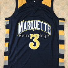 official photos de3fb 54a71 Retro College 3 Dwayne Wade Marquette Golden Eagles Throwback
