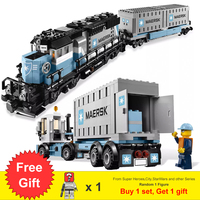 1234Pcs Ultimate Maersk Train & Emerald Night Set With Figures Building Blocks Toys For Children Gift Fit Legoness Technic 10219