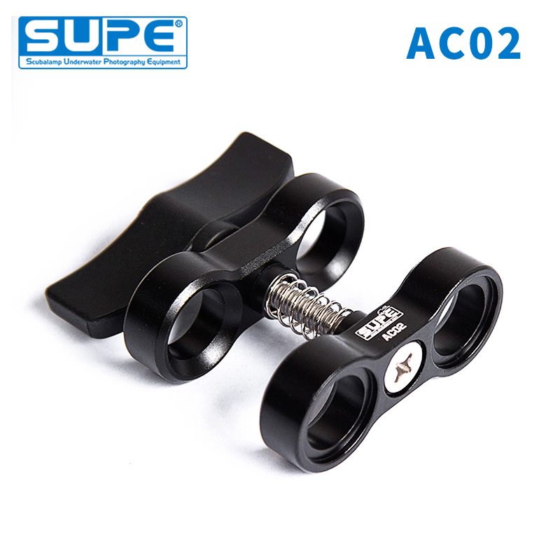 SUPE Scubalamp AC02 Butterfly Clamp Underwater Scuba Diving Accessorries Photography Equipment Ball Head Clip Arm Clip